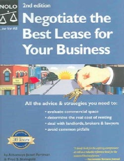 Negotiate The Best Lease For Your Business (Paperback)
