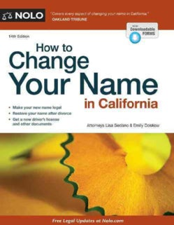 How to Change Your Name in California (Paperback)
