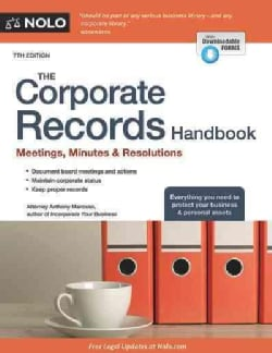 The Corporate Records Handbook: Meetings, Minutes & Resolutions (Paperback)