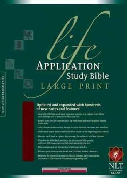 Life Application Study Bible: New Living Translation Version, Burgundy, Bonded Leather, Thumb Indexed, Large Print
