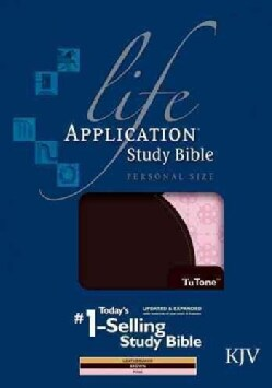 Life Application Study Bible: King James Version, Brown / Pink, Tutone, LeatherLike, Personal Size (Paperback)