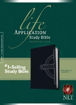 Life Application Study Bible: New Living Translation Black Celtic Cross TuTone LeatherLike Personal