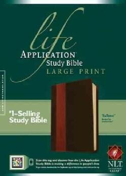 Life Application Study Bible: New Living Translation Brown / Tan TuTone LeatherLike, Large Print (Paperback)