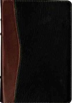 Santa Biblia: Nueva Traduccion Viviente, negro / cafe, piel fina de becerro, referencia ultrafina, letra grande, ... (Paperback)