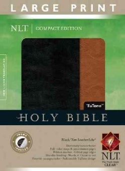 Holy Bible: New Living Translation Black / Tan TuTone LeatherLike (Paperback)