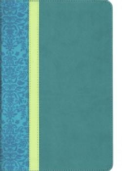 Holy Bible: New Living Translation, Teal/Avocado/Jade TuTone, Leatherlike, Personal Size (Paperback)