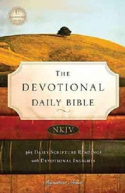 The Devotional Daily Bible: New King James Version (Paperback)