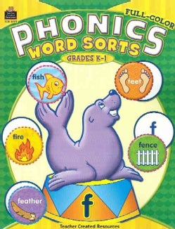 Phonics Word Sorts: Full-Color Grades K-1 (Paperback)