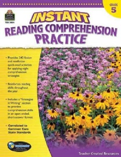 Instant Reading Comprehension Practice, Grade 5 (Paperback)