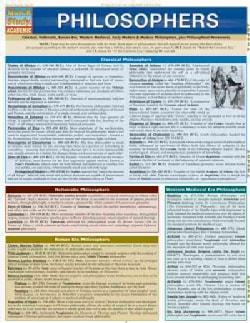 Quick Study Academic Philosophers: Classical, Hellenistic, Roman Era, Western Medieval, Early Modern & Modern Phi... (Wallchart)