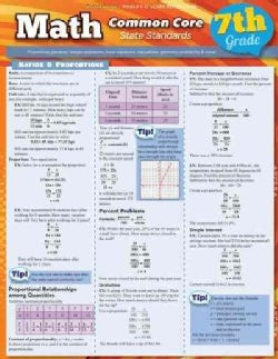 Math Common Core, 7th Grade: State Standards (Cards)