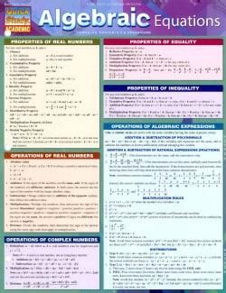 Algebraic Equations: Formulas, Properties & Operations (Cards)