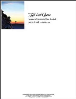 He Isn't Here Easter Sunrise Letterhead 2015, Package of 50 (Other book format)