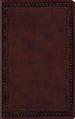 The Holy Bible: English Standard Version, Mahogany, Trutone, Border Design (Paperback)