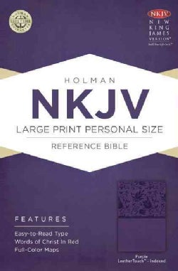 The Holy Bible: New King James Version Personal Size Reference Bible, Purple, Leathertouch (Paperback)