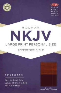 Holy Bible: New King James Version Personal Size Reference Bible, Brown/Tan, LeatherTouch (Paperback)