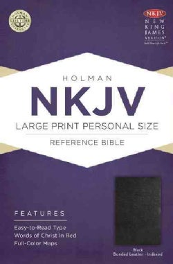 Holy Bible: New King James Version, Black, Bonded Leather, Holman Personal Size Reference (Paperback)