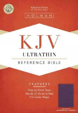 Holy Bible: King James Version, Eggplant, Leathertouch, Ultrathin, Holman Reference Bible (Paperback)