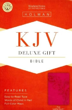 The Holy Bible: King James Version Deluxe Gift Bible, Pink, Leathertouch (Hardcover)