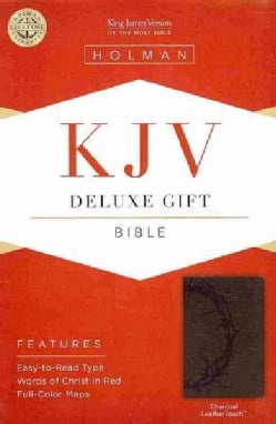 Holy Bible: King James Version Bible, Charcoal, LeatherTouch (Hardcover)