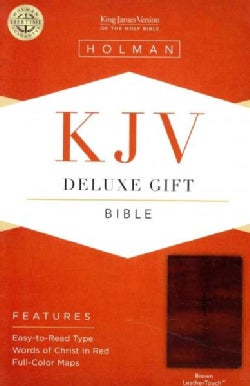 Holy Bible: King James Version Deluxe Gift Bible, Brown, Leathertouch (Paperback)