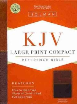Holy Bible: King James Version Bible, Brown/Tan, Leathertouch (Paperback)