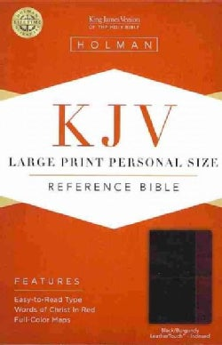 Holy Bible: King James Version Personal Size Bible, Black/Burgundy, Leathertouch (Hardcover)