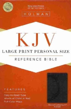 Holy Bible: King James Version Bible, Charcoal, LeatherTouch Personal Size (Hardcover)
