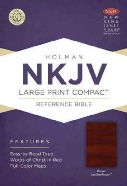 The Holy Bible: New King James Version, Brown, Leathertouch, Holman Reference Bible (Paperback)