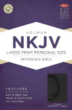 Holy Bible: New King James Version, Charcoal, LeatherTouch, Holman Personal Size Reference (Paperback)