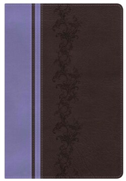 Holy Bible: King James Version, Rainbow Study Bible, Brown / Lavender, Leathertouch (Paperback)