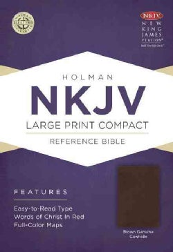The Holy Bible: New King James Version Reference Bible, Brown, Geniune Cowhide (Paperback)