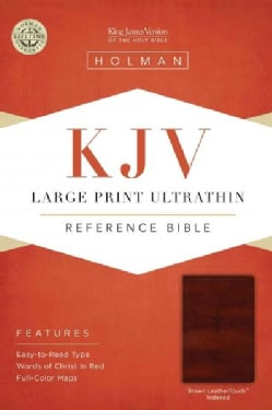 Holy Bible: King James Version, Brown, Leather Touch, Ultrathin Reference Bible (Paperback)