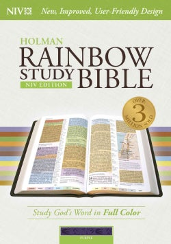 Holman Rainbow Study Bible: New International Version, Purple, LeatherTouch (Paperback)