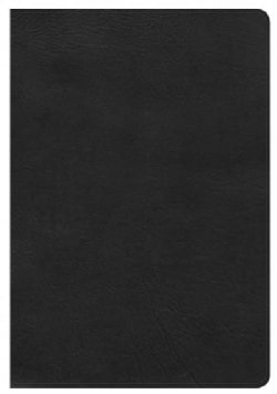 Holy Bible: Holman Christian Standard, Giant Print Reference Bible, Black Leathertouch (Paperback)