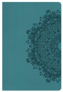 Holy Bible: Holman Christian Standard, Personal Size Bible, Teal Leathertouch (Paperback)