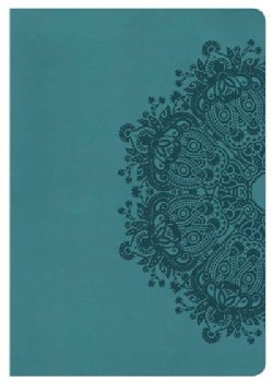 Holy Bible: Holman Christian Standard, Super Giant Print Reference Bible, Teal Leathertouch (Paperback)