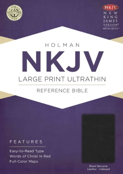 Holy Bible: Nkjv Ultrathin Reference Bible, Black Genuine Leather (Hardcover)