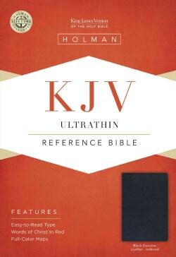Holy Bible: KJV Ultrathin Reference Bible, Black Genuine Leather (Hardcover)