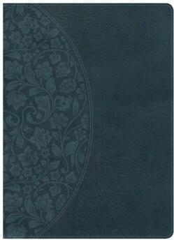 Holy Bible: Holman Study Bible: Nkjv Dark Teal Leathertouch (Paperback)