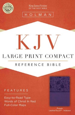 Holy Bible: KJV Compact Reference Bible, Purple Leathertouch (Paperback)