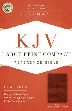Holy Bible: KJV Compact Reference Bible, Brown Cross Leathertouch (Paperback)