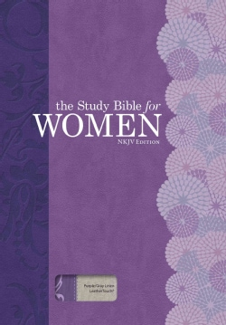 Holy Bible: The Study Bible for Women, Nkjv Edition, Purple/Gray Linen (Paperback)