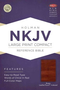 Holy Bible: Nkjv Compact Reference Bible, Brown Cross Leathertouch (Paperback)