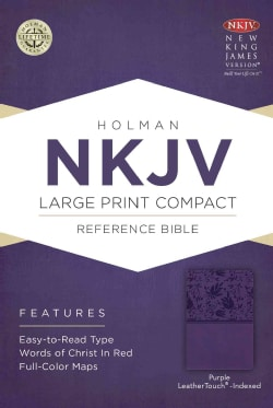 Holy Bible: Nkjv Compact Reference Bible, Purple Leathertouch (Paperback)