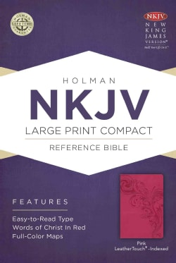 Holy Bible: Nkjv Compact Reference Bible, Pink Leathertouch (Paperback)