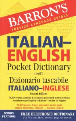 Barron's Italian-English Pocket Dictionary: Dizionario tascabile / Italiano-Inglese (Paperback)