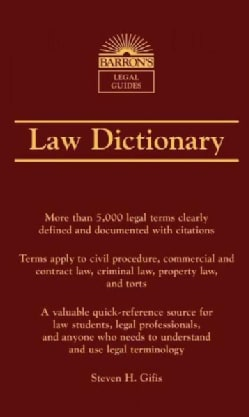 Barron's Law Dictionary (Paperback)