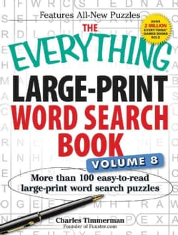 The Everything Large-Print Word Search Book: More Than 100 Easy-to-Read Large-Print Word Search Puzzles (Paperback)