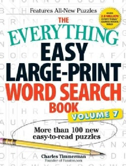 The Everything Easy Large-print Word Search Book: More Than 100 New Easy-to-read Puzzles (Paperback)